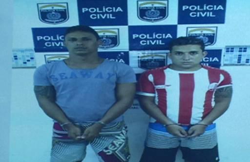 Alisson Martins, 23 anos, e Klaidson Fernandes, 20 foram presos na semana passada. Foto: Reprodução TV Clube