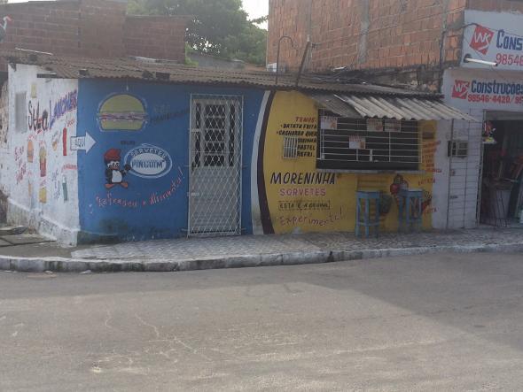 Crime aconteceu na frente desta lanchonete. Foto: Wagner Oliveira/DP/D.A Press