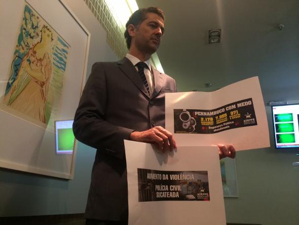 Números e campanha foram anunciados pelo presidente da Adeppe, Francisco Rodrigues. Foto: Wagner Oliveira/DP/D.A Press