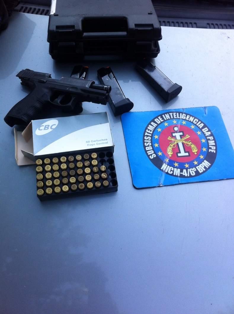 Pistola e munições foram recuperadas