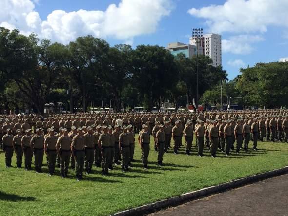 Anúncio da expulsão foi feito durante formatura de novos PMs. Foto: Wagner Oliveira/DP/D. A Press