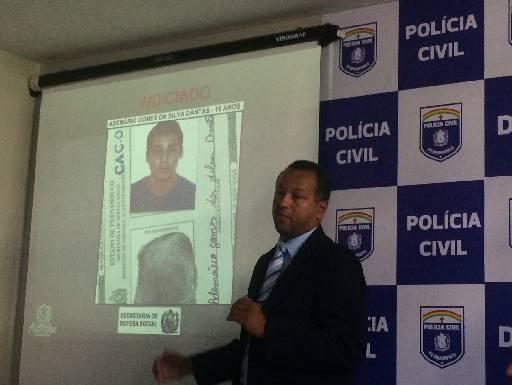 Delegado Alfredo Jorge apresentou conclusão do caso. Foto: Wagner Oliveira/DP/D.A Press