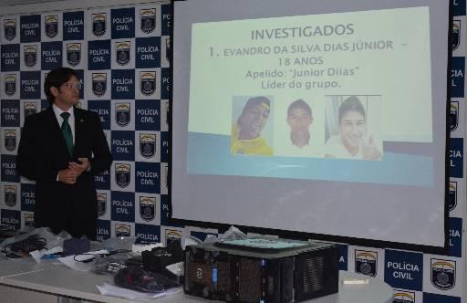 Caso foi apresentado ontem em coletiva. Foto: Policia Civil/Divulgação