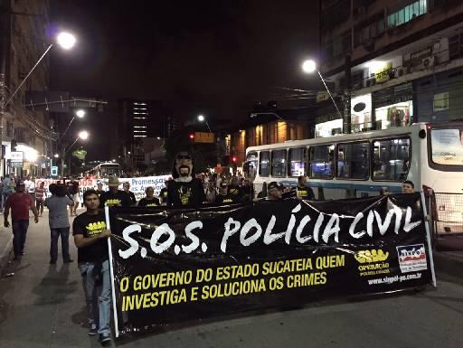 Policiais farão passeata nesta quinta-feira. Foto: Sinpol/Divulgação