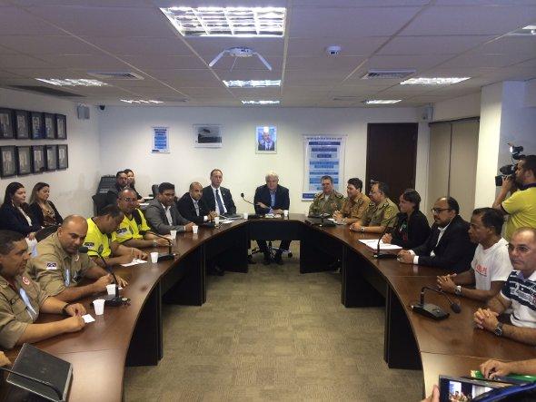 Houve duas reuniões entre governo do estado e representantes da PM. Foto: Wagner Oliveira/DP