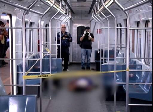 Suspeito foi morto dentro do vagão. Foto: Reprodução/TV Clube