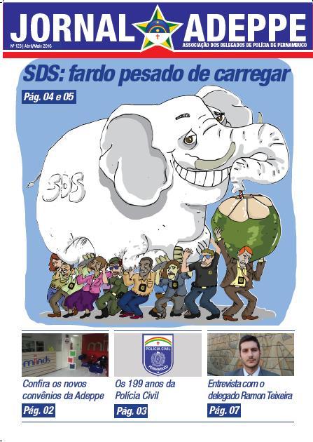 Esta é a capa do jornal da Associação dos Delegados