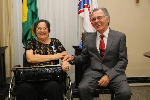 Maria da Penha recebeu homenagem do TJPE essa semana. Foto: Alesson Freitas/Agencia Rodrigo Moreira/Ascom/TJPE