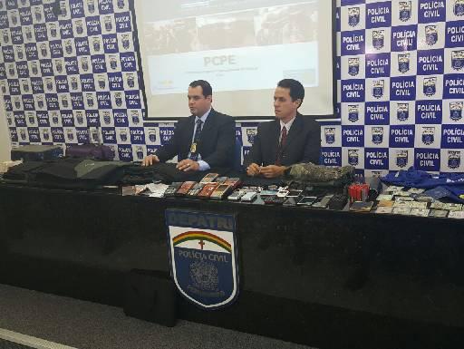 Ação do grupo foi detalhada ontem pela Polícia Civil. Fotos: PCPE/Divulgação