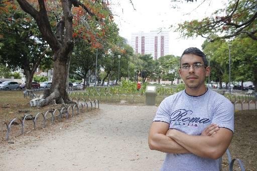 Marcos Gondim evita frequentar a Praça de Casa Forte com a família no horário da noite