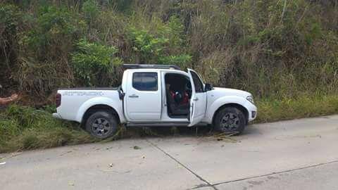 Carro onde estavam os militares. Foto: Divulgação