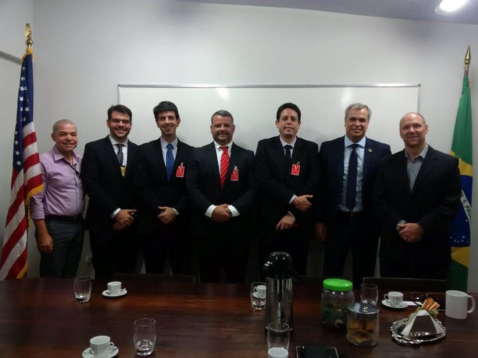 Delegados foram recebidos no Consulado Americano. Foto; Divulgação